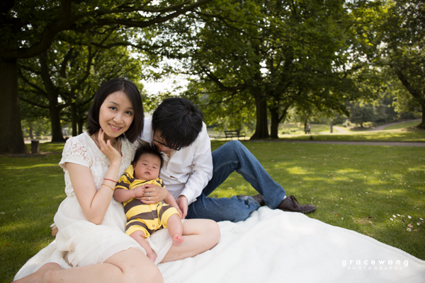 Picnic in the park family photoshoot