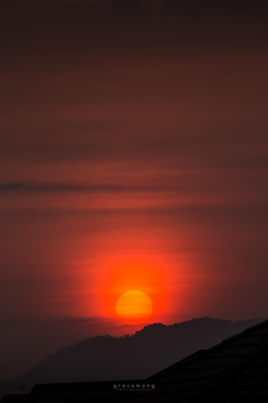 Beautiful sun set in ipoh